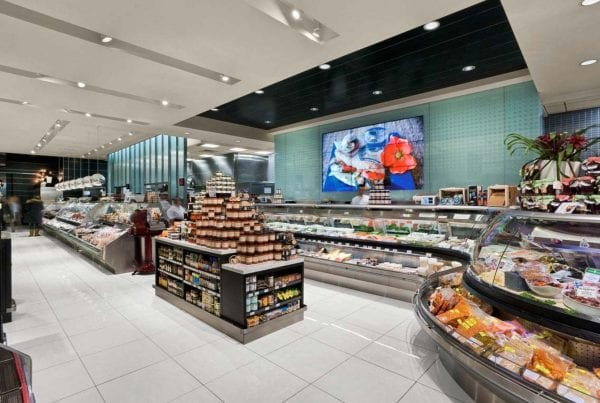 Digital signage for grocery stores and supermarkets