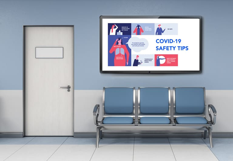Download free coronavirus digital signage templates to display on the screens in your network