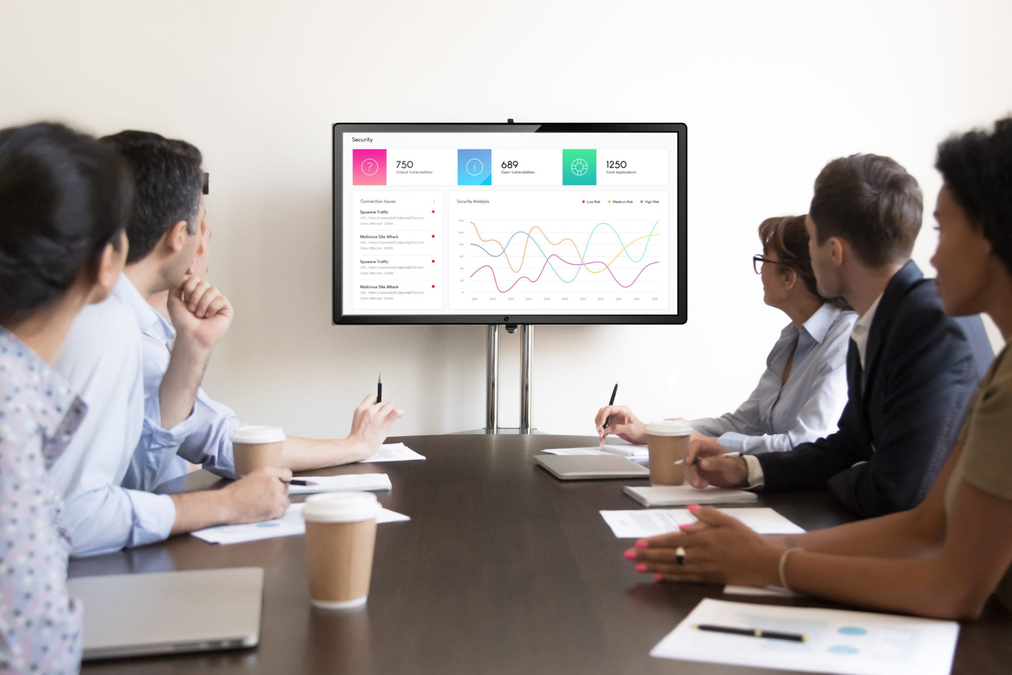 corporate office digital signage for internal communications in meeting rooms and boardrooms