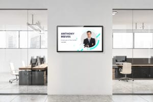 Internal Communications Digital Signage for employee digital bulletin boards in the workplace