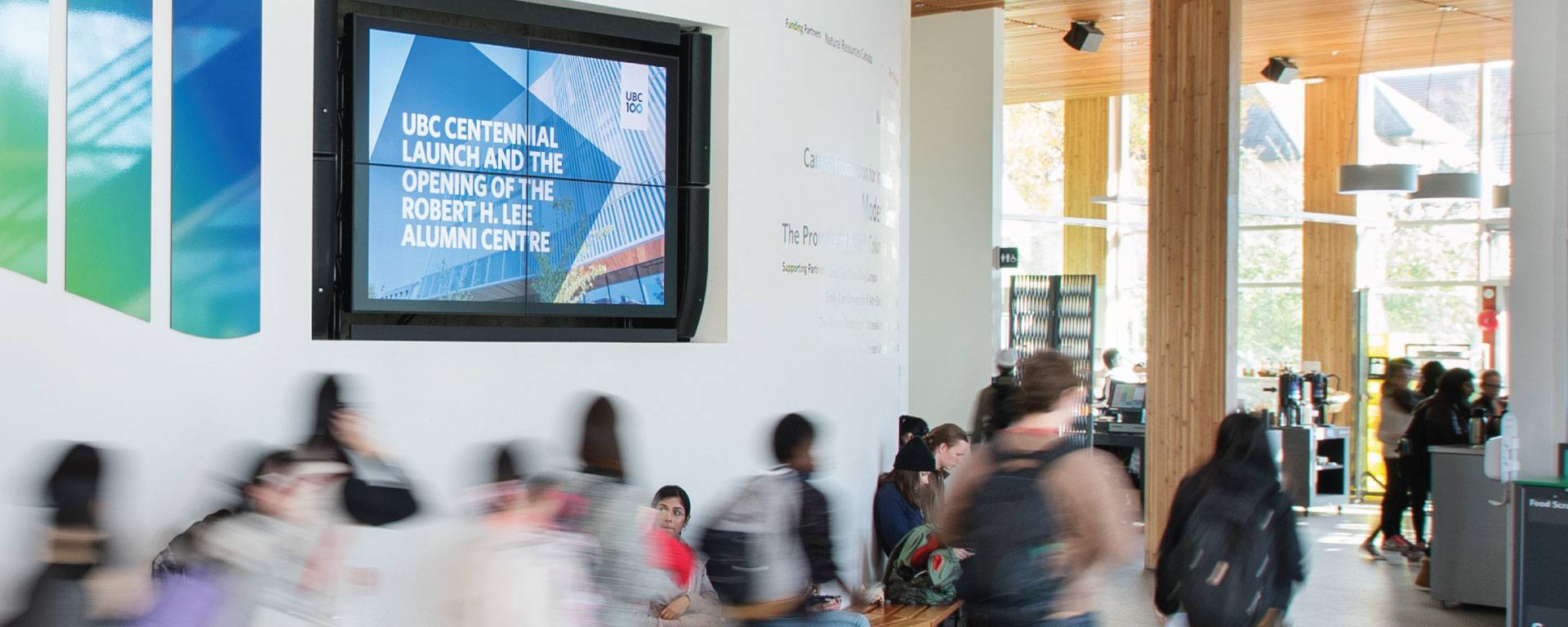 University Digital Signage Use Case UBC