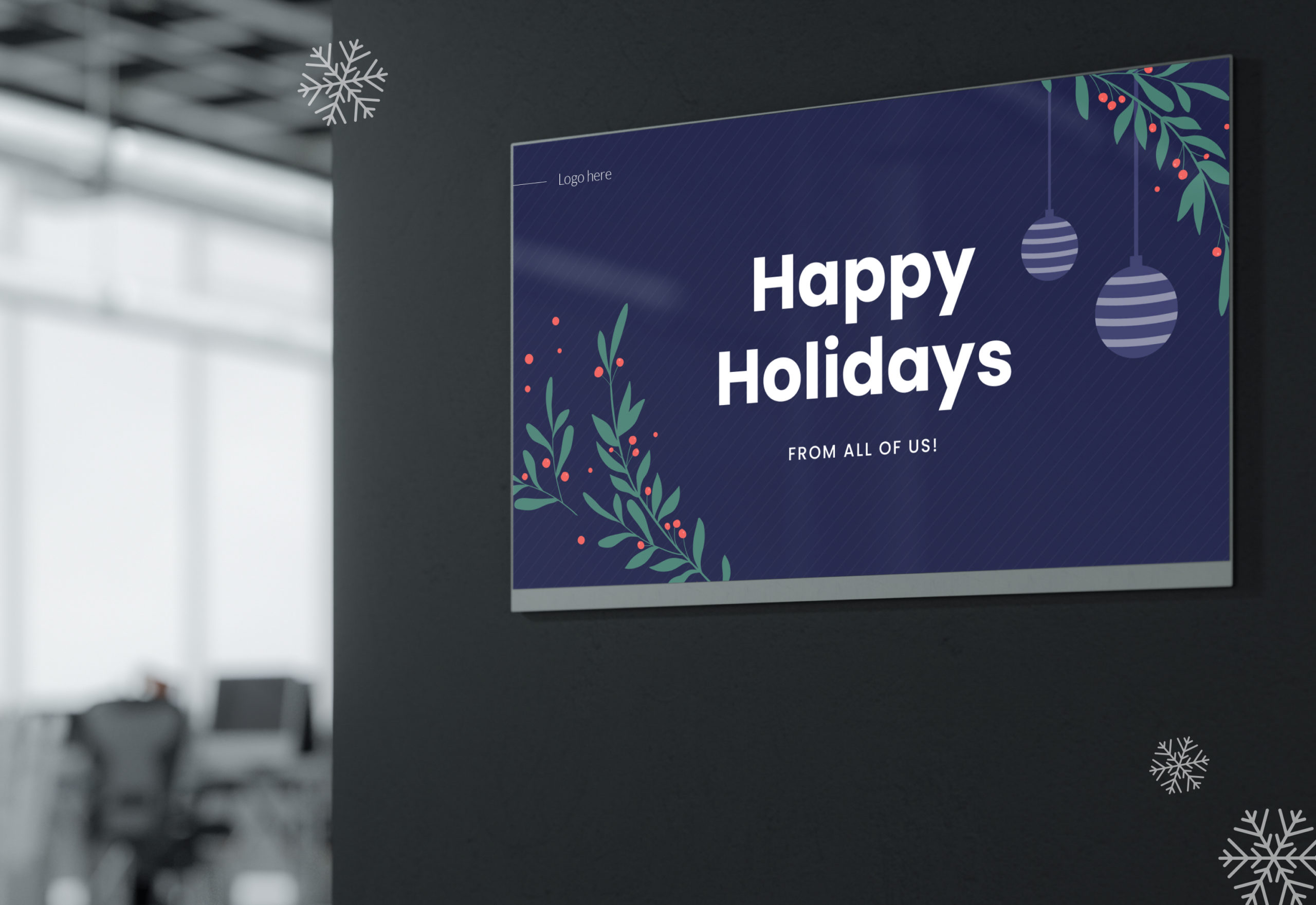 How To Design Heavenly Holiday Digital Signage Content + [Free Templates]